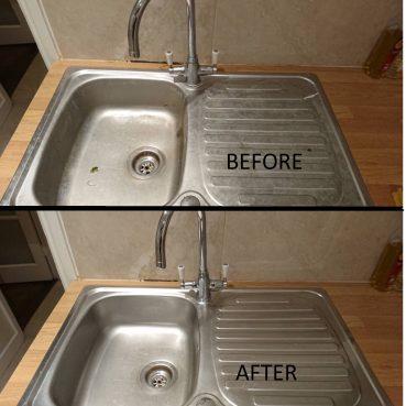 , Kitchen sink cleaning